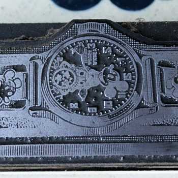 1934-37 Mickey Mouse Wristwatch Printer's Block