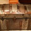 Small  trunk (cross slat/ barrel top)1880s or so