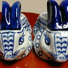 Blue & White  Porcelain rabbits