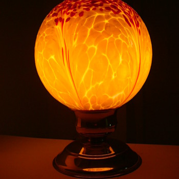 Czech Art Deco Glass Shade......update - Art Glass