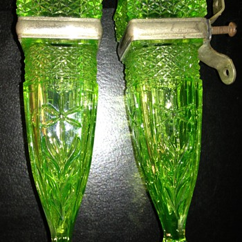 Depression Glass Car Bud Vases