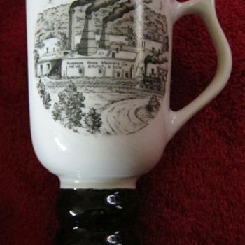 Hall China tri-state East Liverpool Ohio pottery festival 1986 mug - Art Pottery
