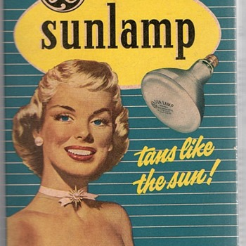 General Electric Reflector Sunlamp Tanning Bulb Original Retro Box - Advertising