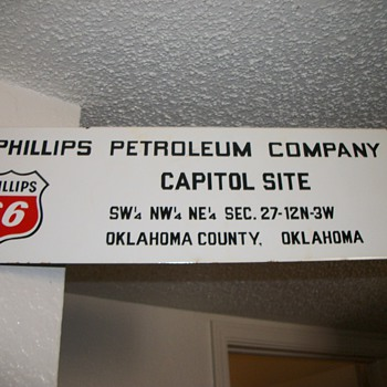 oil lease sign - Petroliana
