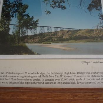 ORIGINAL PHOTO OF CANADIAN PACIFIC RAILWAY BRIDGE - Railroadiana