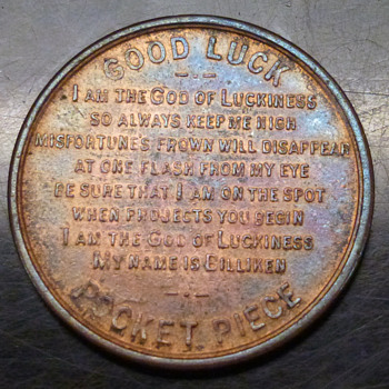 1908 billiken token good luck coin