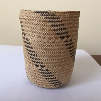 Early Attu Island basket - Native American