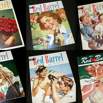 Part of my Coca-Cola Red Barrel magazine collection - Coca-Cola