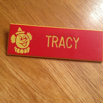 1975 name tag,raggedy ann watch,Hamilton ladies watch,1970 poster