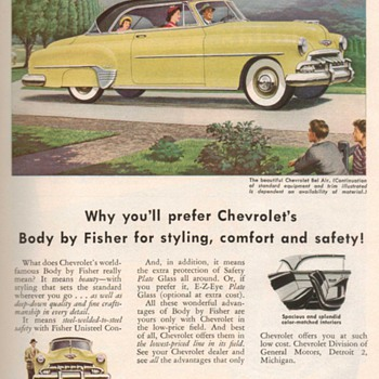 1952 - Chevrolet Bel-Air Advertisement