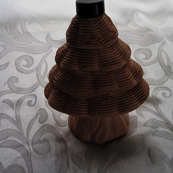 CLAY XMAS TREE DECANTER