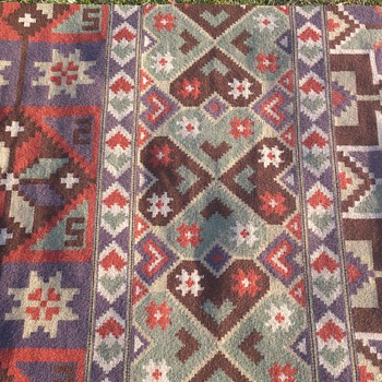 Handcraftet wallhanging/rug from Sweden