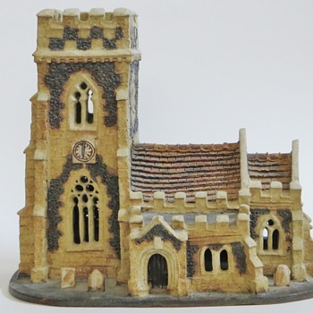 Suffolk England Pottery Church, RB mark. Church and Maker? - Art Pottery