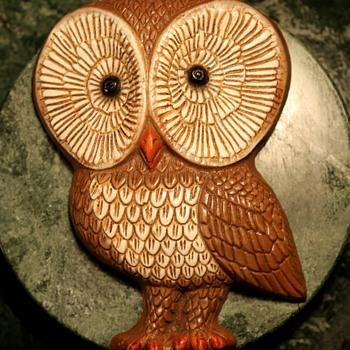 1970s Owl Plaque - Animals