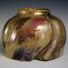 "Keller & Guérin ""Flaming Beetle"" Reflet Métallique Glazed Stoneware Vase"