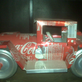 Coca Cola Car made from 1986 Disney Cans!