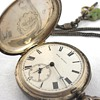 19th Century Bovet Fleurier Silver Pocket Watch with Fob