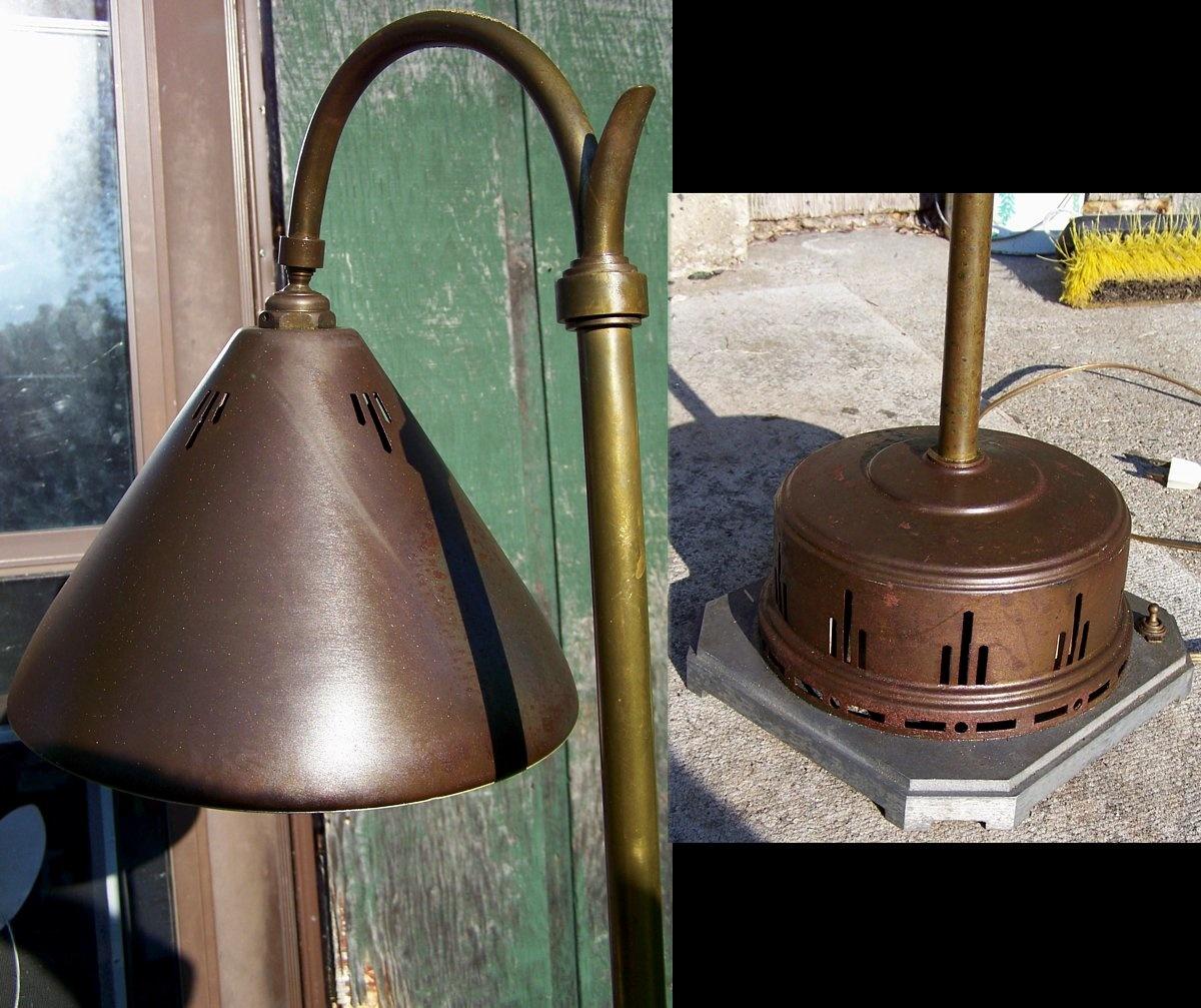 1930s art deco medicinal floor lamp fixture collectors for 1930s floor lamps