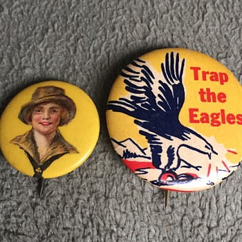 Vintage Unknown Type Pinbacks Buttons