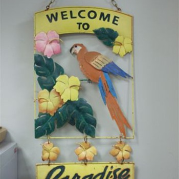 Welcome to Paradise Tin Sign
