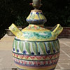 50's/60's Italian Majolica pot converted into table lamp!