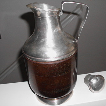 REVERE STERLING/WOOD PITCHER