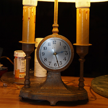 My Art Deco Lamp Clock Combination Late 20&#039;s or early 30&#039;s