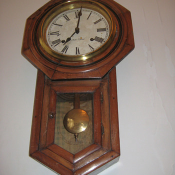 Antique Seth Thomas drop regulator clock ca.1885