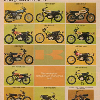 1971 Kawasaki Motorcycles Advertisement - Advertising