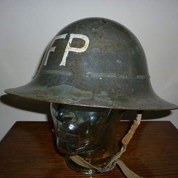 British Civil Defence WWII Fire Party steel helmet 1941 - Military and Wartime