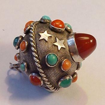 Vintage Multi-stone Orb Pendant