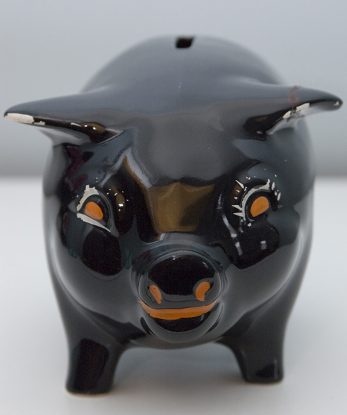 1930 S Black Ceramic Piggy Bank Collectors Weekly