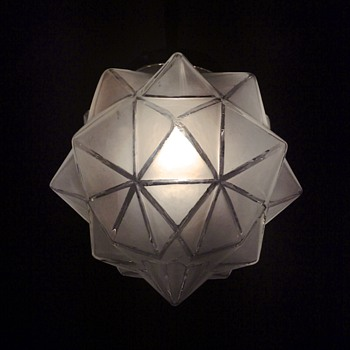 Star shaped glass ceiling pendant - Lamps