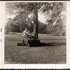 Family Photo - Grandfather on Mower