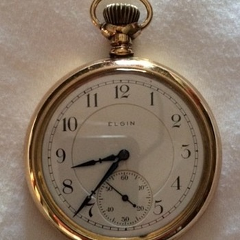My 2nd Great Uncles' 1905 Gold Elgin Pocket Watch Restored