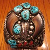 Navajo Signed Sterling Bear Claw Men's Bracelet