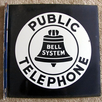 Public Telephone Sign - Telephones