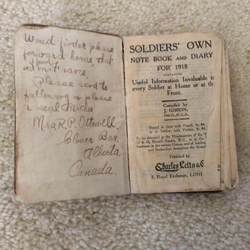 This WWI diary belonged to my grandpa's brother Cedric.