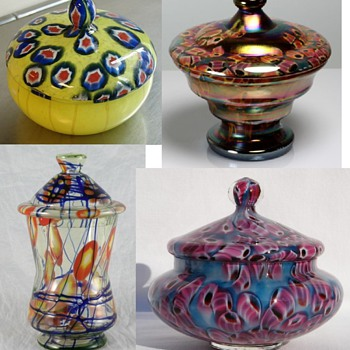 Czechoslovakia glass -  Compotes - Art Glass