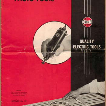 1954 - Dremel Mfg. Co. Moto-Tool Catalog