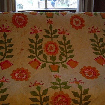Great Grandmother's Wedding Quilt - Rugs and Textiles