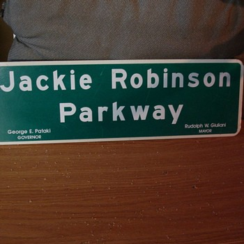 Jackie Robinson Parkway memorial sign