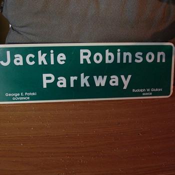 Jackie Robinson Parkway memorial sign
