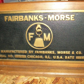 Fairbanks-Morse Builders tag