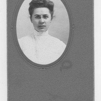 Great Grandmother portrait Logo unidentified
