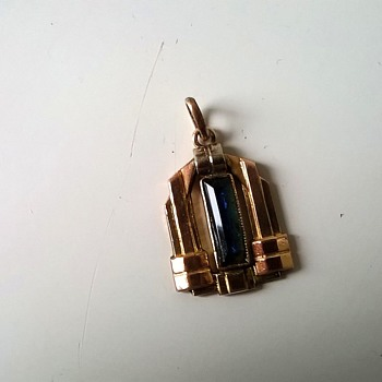 Art Deco White & Yellow Gold (???) Pendant Flea Market Find $1.50