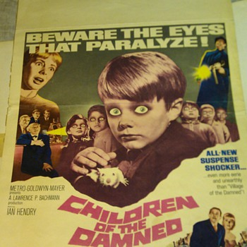 1964 Children of the damned Movie Poster insert