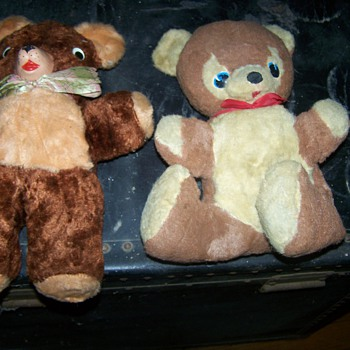 Two Vintage old Stuffed Bears