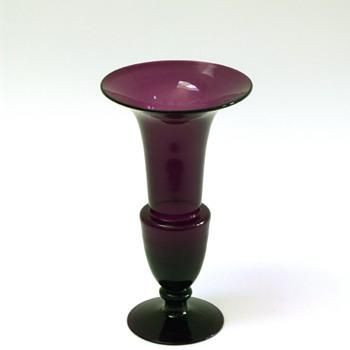 Purple trumpet vase