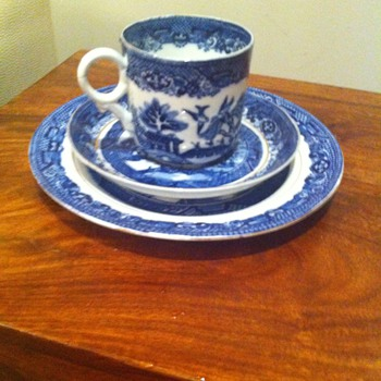 Minton Willow Pattern 1851 trio 3 dot - made in the Great Exhibition year - China and Dinnerware
